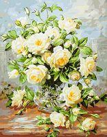 "Картина по номерам ""Букет белых роз"" (400х500 мм)"