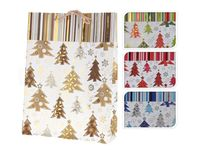 """Пакет бумажный подарочный """"Новый год"""" (в ассортименте; 25x8,5x34,5 см, арт. ABD001260)"""