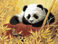 "Картина по номерам ""Панда и удод"" (400x500 мм; арт. MG188)"