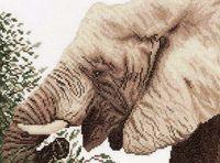 """Вышивка крестом """"Слон"""" (290х200 мм)"""