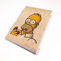 """Блокнот крафт """"Гомер Симпсон"""" А5 (002)"""