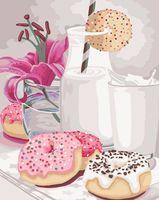 """Картина по номерам """"Сладкий завтрак"""" (400х500 мм)"""