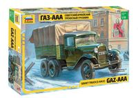 Советский трехосный армейский грузовик Газ-ААА (масштаб: 1/35)