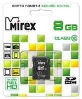 Карта памяти SDHC 8Gb Mirex Class 10