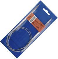 Спицы для вязания круговые (металл; 5.0 мм; с металлической леской; арт. MKG)
