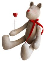 """Набор для шитья из ткани """"Мишка с сердечком"""""""
