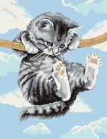 """Картина по номерам """"Котёнок на ветке"""" (300х400 мм)"""