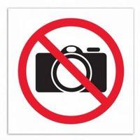 """Наклейка информационная """"Фотосъемка запрещена"""" (114x114 мм)"""