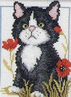 """Вышивка крестом """"Черный котенок"""""""