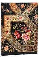 """Еженедельник Paperblanks """"Филигранный цветочный рисунок"""" на 2017 год (черное дерево; формат: 130x180 мм, миди)"""