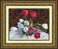 """Вышивка крестом """"Белые тюльпаны"""""""