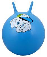 """Мяч-попрыгун """"Слонёнок"""" (45 см; с рожками; синий)"""