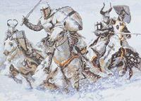 """Вышивка крестом """"Рыцари"""" (360х260 мм)"""