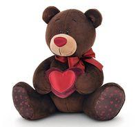 """Мягкая игрушка """"Медведь Choco с сердцем"""" (20 см)"""