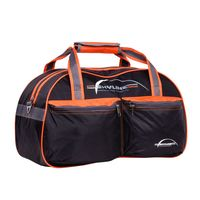 Спортивная сумка П05/6 (чёрно-оранжевая)