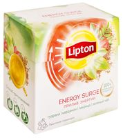 "Чай зеленый ""Lipton. Energy Surge Tea"" (20 пакетиков)"