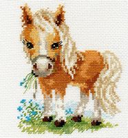 """Вышивка крестом """"Белогривая лошадка"""""""