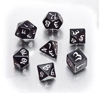 """Набор кубиков """"Классика"""", черно-белый (7 шт.)"""
