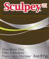 """Глина полимерная """"Sculpey III"""" (коричневая замша, 57 г)"""