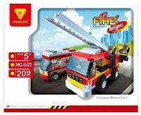 """Конструктор """"Пожарные спасатели. Пожарная техника"""" (209 деталей)"""