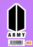 """Глянцевая наклейка """"ARMY"""" (арт. 0009)"""