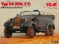 Германский штабной автомобиль Typ G4 (Kfz.21) ІІ МВ (масштаб: 1/35)