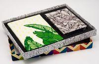 """Подарочный набор """"Листья"""" (обложка на паспорт и кредитница)"""