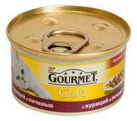 """Консервы для кошек """"Gold"""" (85 г; курица и печень)"""