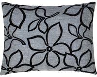 """Подушка """"Цветы"""" (37x47 см; серая)"""