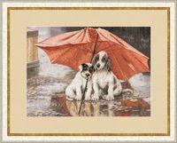 """Вышивка крестом """"Под дождем"""""""