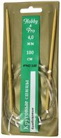 Спицы для вязания круговые (бамбук/пластик; 4 мм)