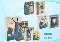 """Пакет бумажный подарочный """"Мужская тематика"""" (в ассортименте; 18х23х9 см; арт. МС-3012)"""