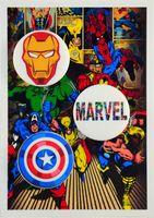 """Набор значков маленьких """"Вселенная Marvel"""" (арт. 192)"""