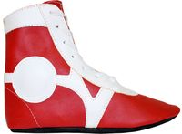 Обувь для самбо SM-0102 (р.46; кожа; красная)