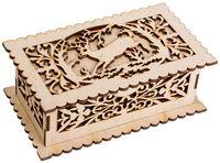 "Заготовка деревянная ""Шкатулка прямоугольная. Олень"" (180х105х70 мм)"