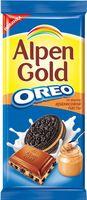 """Шоколад молочный """"Alpen Gold. Oreo. Со вкусом арахисовой пасты"""" (95 г)"""