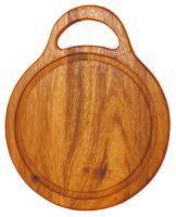 Доска разделочная деревянная (300х245х15 мм; арт. 9/886)