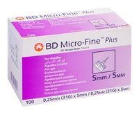 Иглы к шприц-ручкам BD Micro-Fine Plus 31G (0,25х5мм) №100