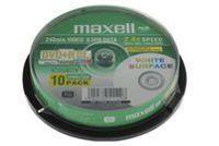 Диск DVD+R Dual Layer 8.5Gb 8x Maxell printable CakeBox 10