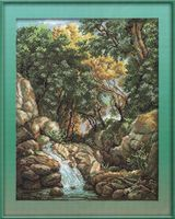 "Вышивка крестом ""Водопад в лесу"" (265x360 мм)"