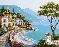 """Картина по номерам """"Средиземноморский залив"""" (400х500 мм; арт. PC4050209)"""