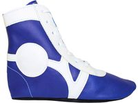 Обувь для самбо SM-0102 (р.34; кожа; синяя)