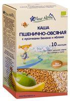 """Детская каша Fleur Alpine Organic """"Пшенично-овсяная с кусочками банана и яблока"""" (175 г)"""