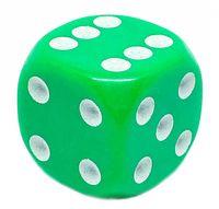 """Кубик D6 """"Простой"""" (16 мм; зеленый; арт. 02KG098)"""