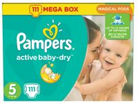 "Подгузники ""Pampers Active Baby-Dry Junior"" (11-18 кг, 111 шт, арт. 0001010689)"