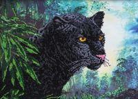 """Вышивка бисером """"Черная пантера"""""""