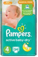 "Подгузники ""Pampers Active Baby-Dry Maxi"" (8-14 кг, 54 шт, арт. 0001010631)"