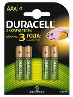 Аккумуляторы DURACELL никель-металлгидридные AAA HR6 750mAh (4 шт)