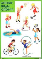 Летние виды спорта. Плакат