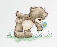 """Вышивка крестом """"Медвежонок Бруно"""" (200х160 мм)"""